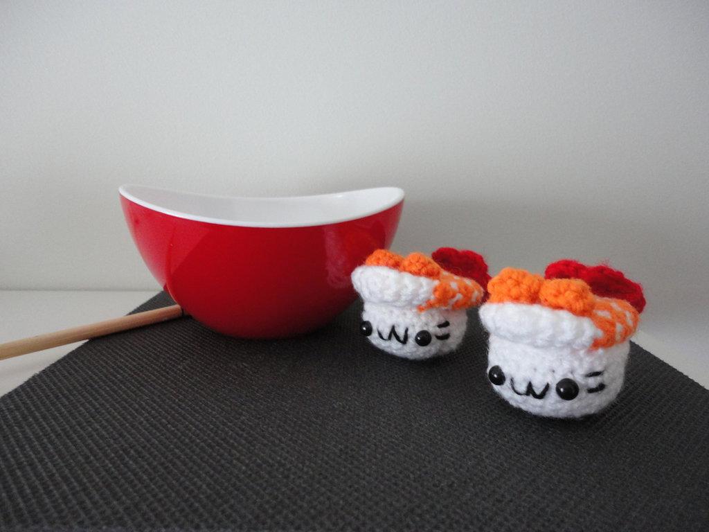 Sushi amigurumi nigiri realizzati a mano
