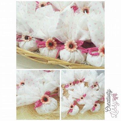 Sacchettino fagottino porta confetti come cadeaux, bomboniera nascita/battesimo
