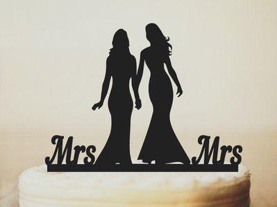 mrs & mrs - cake topper