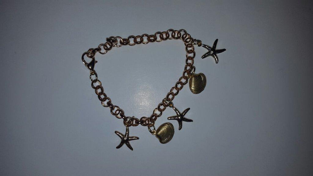 braccialetto dorato stelle