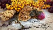 Collana ghianda con fiore trifoglio incluso nella resina bronzo gioielli botanici