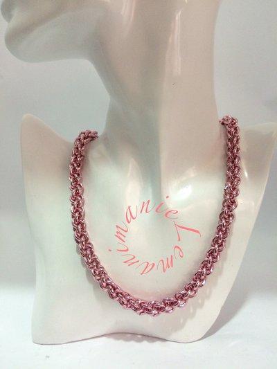 #collana #chainmail #rosa