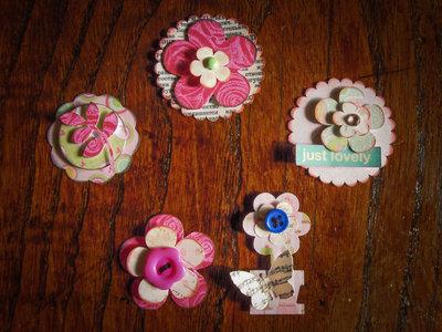 Abbellimenti per Scrapbooking - Rosa