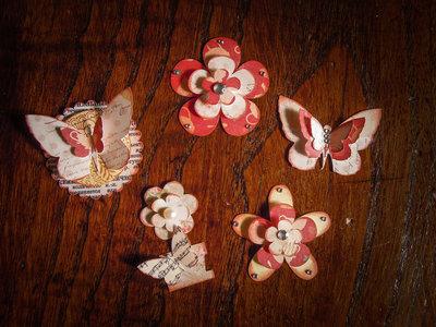 Abbellimenti per Scrapbooking - Rosso