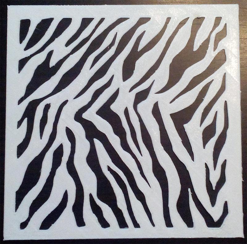 Stencil Zebra Zebrato torte aerografo decorazione pareti riutilizzabile