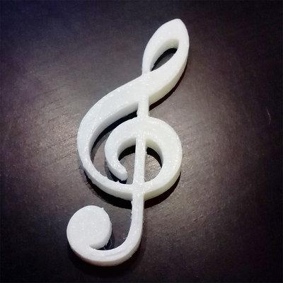 DECOUPAGE Note Musicali musica chiave di violino da decorare sagoma decorazioni plastica