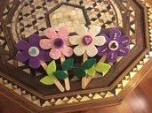 Bastoncini di legno fioriti