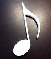 DECOUPAGE Note Musicali musica Croma decorare sagoma decorazioni plastica