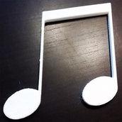 DECOUPAGE Note Musicali musica Duina decorare sagoma decorazioni plastica