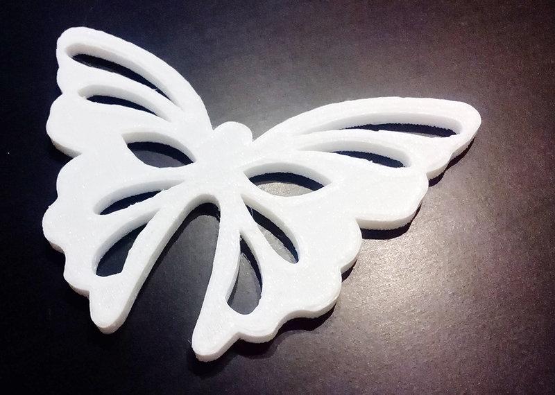 Decoupage FARFALLA 10 cm decorare sagoma decorazioni plastica
