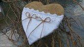 Cuscino portafedi cuore