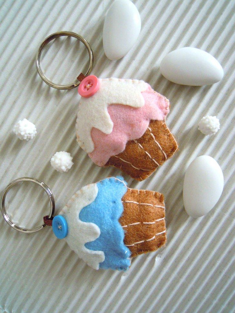 cupcake in pannolenci portachiavi