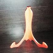 Decoupage su Plastica espositore Base Cavalletto tripode con altezza 15 cm PIATTI DECORAZIONE