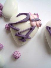 maxi cuori decorati compleanno farfalla
