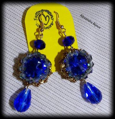 Orecchini rivoli blu notte