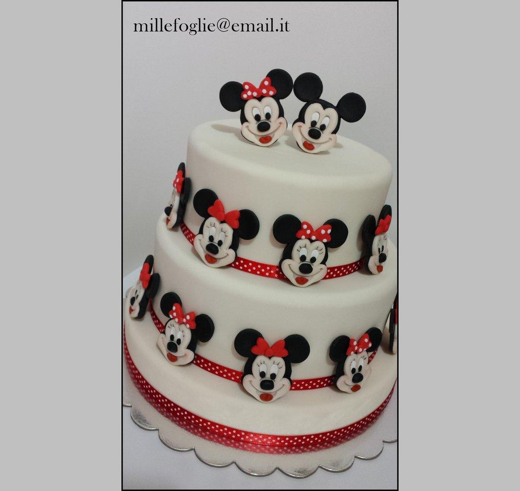 Decorazioni di zucchero per torta,cupcakes o biscotti-Topolino&Minnie