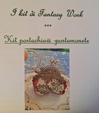 Kit - portachiavi-portamonete vintage
