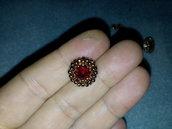 Orecchini oro rubino