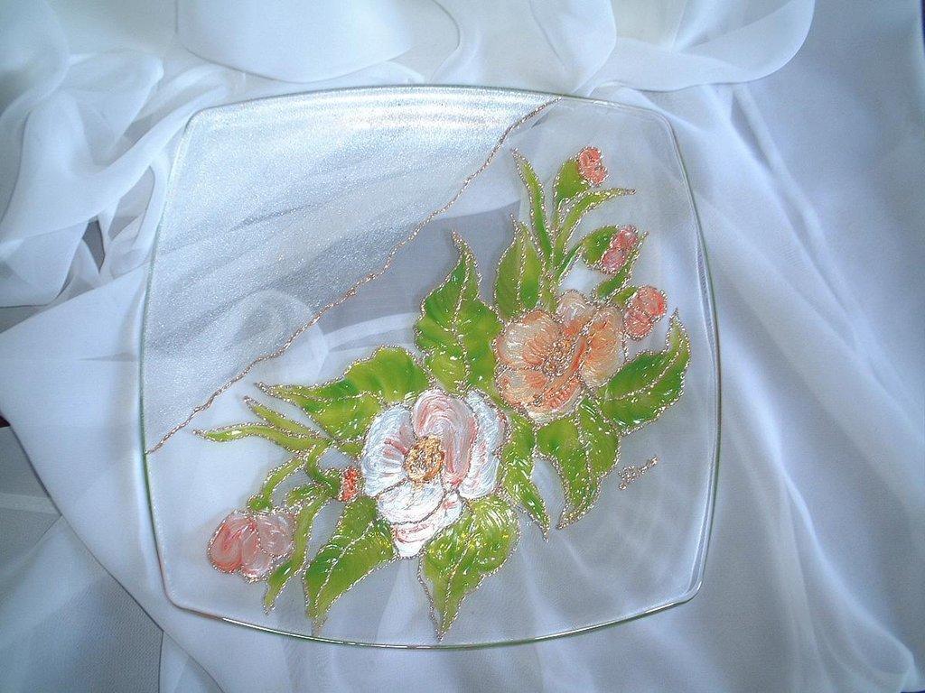 piatto quadrato vetro
