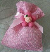 sacchetto rosa battesimo