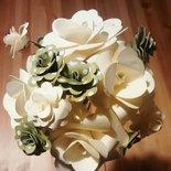 Bouquet di rose di carta, fiorobdi carta, bouquet sposa