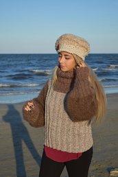 maglia marrone e lurex