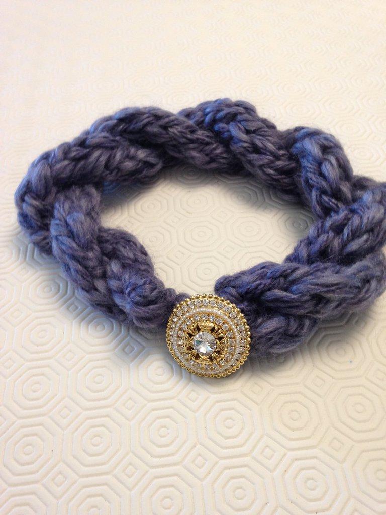 Collana di lana/ fascia per capelli/ copri orecchie