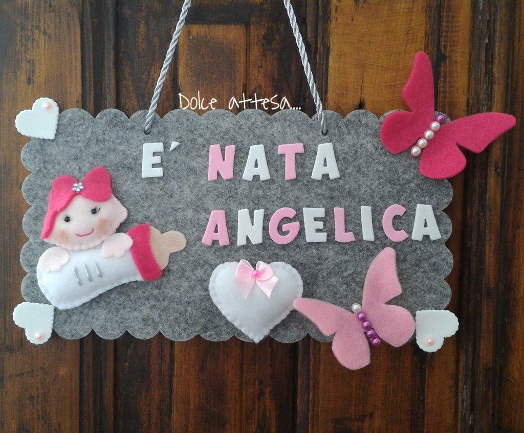 Top FIOCCO ANNUNCIO NASCITA BIMBA - Bambini - Nascita - di Dolce  DA58