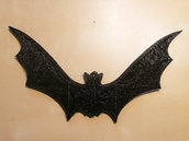 N° 10 Pipistrelli per Halloween nero in materiale plastico per feste