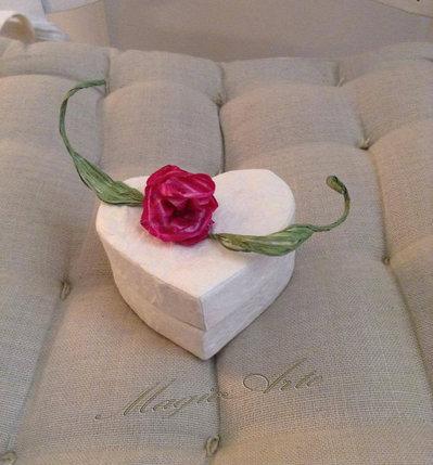 COFANETTO CUORE/Bomboniere per matrimonio,comunione,cresima
