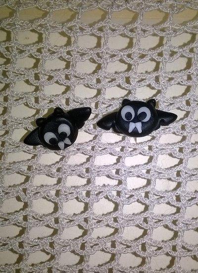 Orecchini in fimo pipistrello