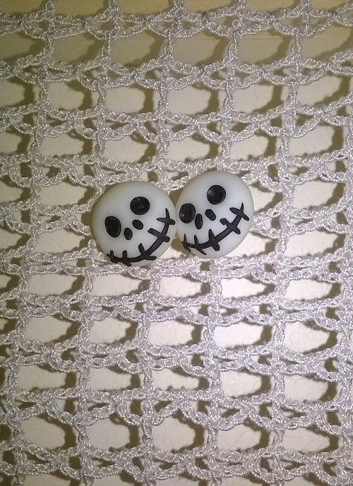 Orecchini in fimo jack skeleton