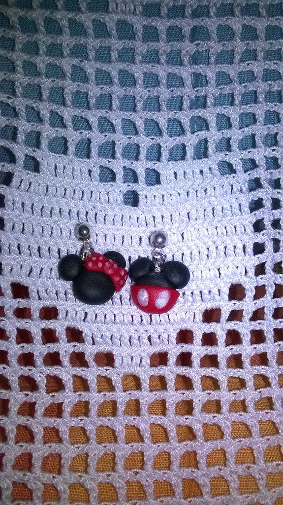 Orecchini in fimo topolino