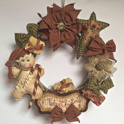 """Natale - Ghirlanda """"Primitive"""" con ginger"""