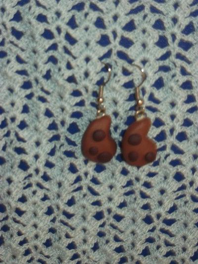 Orecchini in fimo gocciole al cacao monachelle