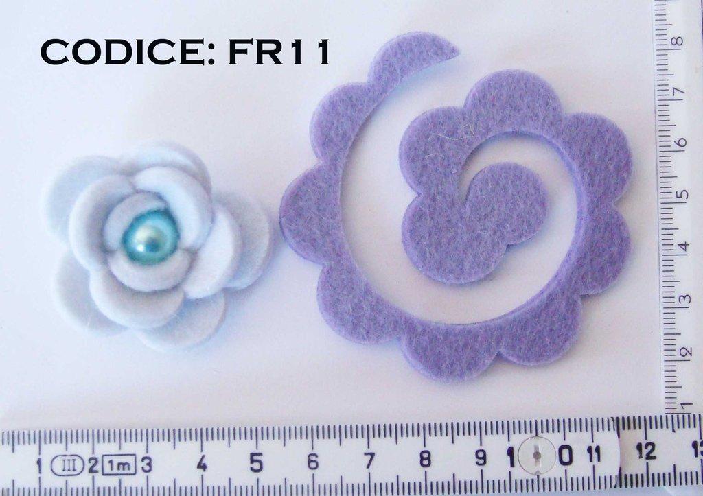 Fustellati Feltro Fiori 3D FR11