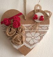 Decorazione cuore per porta