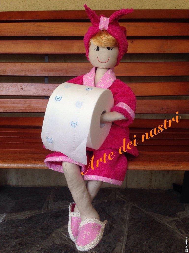 Bambola porta rotolo carta igienica decorazione per il bagno