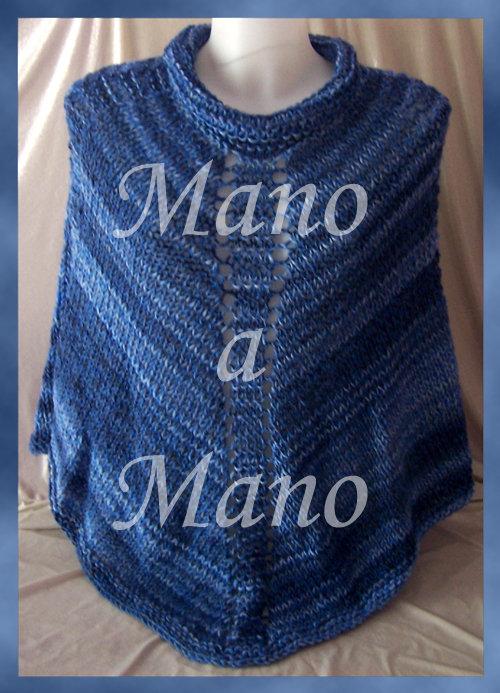 Poncho Adulti - Blu azzurro