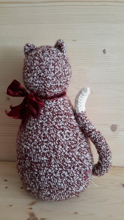 Gatto fermaporta marrone