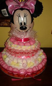 Torta di caramelle con palloncino