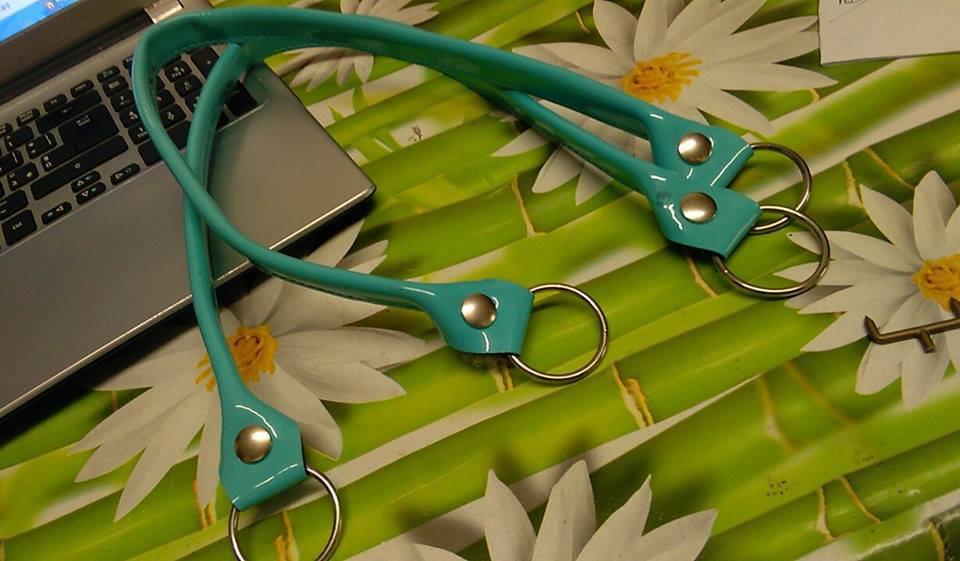 coppia di manci vernice tiffany cm 64 con anello finale
