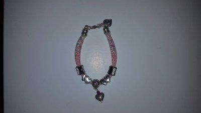 Braccialetto rosa swarovski