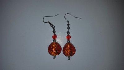 Orecchini arancioni swarovski