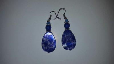 Orecchini blu pietre