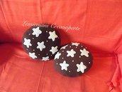 Cuscino Pan di Stelle Pandistelle fatto a mano biscotto pile Antipilling idea regalo San Valentino