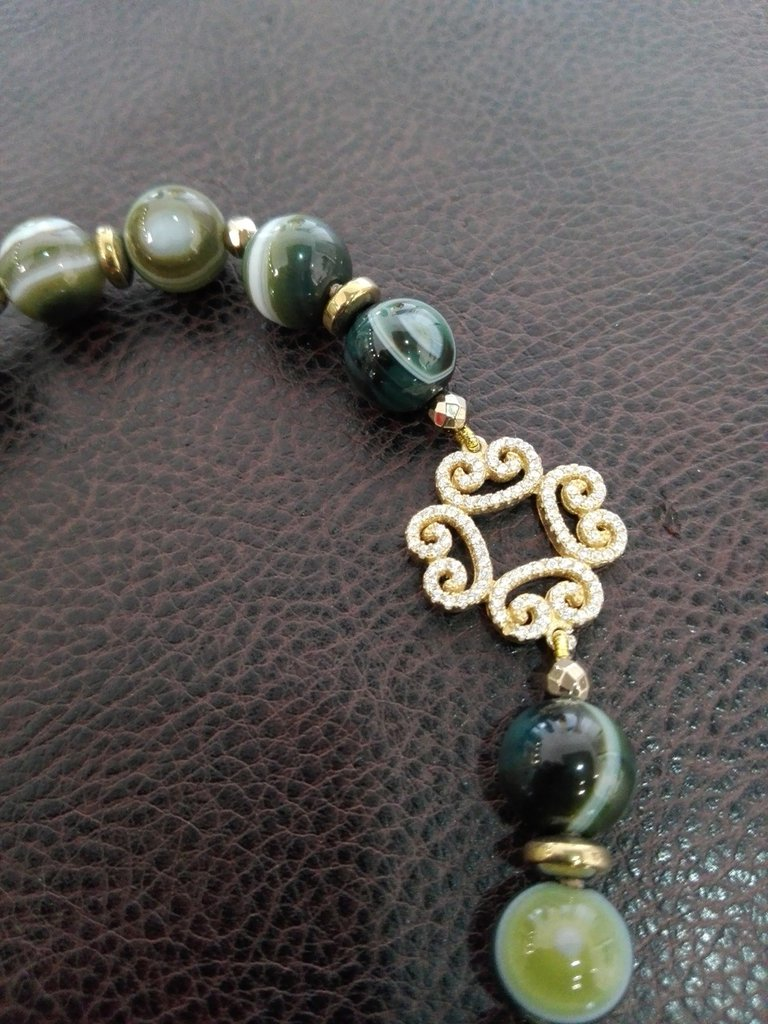 *Parure Green Peace* - Bracciale con agata e argento925