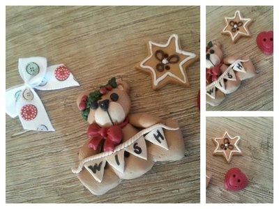 "Bottoni artigianali ""Christmas Bear"""