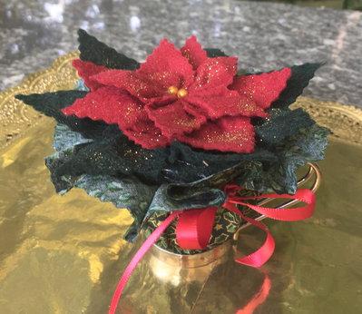 Natale -  stella di natale in tazzinna