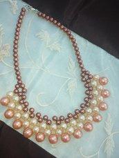 collana perle  5 FILI